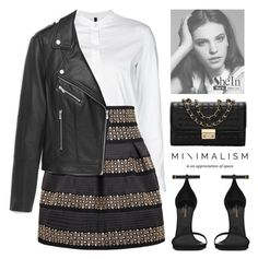 """Untitled #1205"" by alexandra-provenzano ❤ liked on Polyvore featuring TRANSIT, MANGO and Yves Saint Laurent"