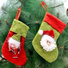 1pc navidad llenador de la media pantalones tratan bolsa de saco del regalo