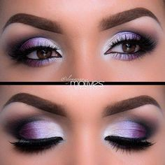 Ridiculously gorgeous purple eyeshadow for brown eyes! And check out that perfect eyebrow makeup! For a great guide on best suited eyeshadow colors for #browneyes, read article