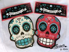 Magnets Sugar Skull Calacas Set of 2 magnets by Ganbatte, $15.00