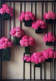 Wall of florals - great design