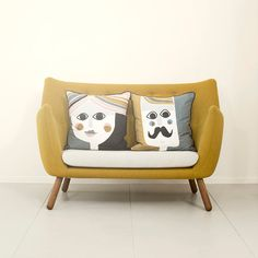 LOVE these his and hers pillows!! :D
