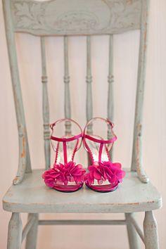 #wedding zapatos novia rosa fucsia