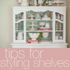 Helpful tips for styling shelves
