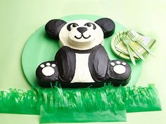 How to Make a Panda Bear Birthday Cake - This is for @Brianna Bennett :-)