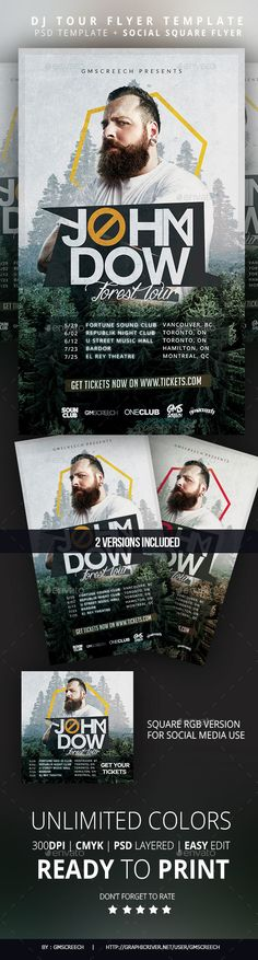 Guest DJ Flyer Of, Concerts and Flyers