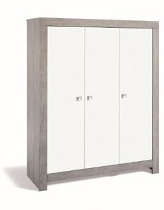 Schardt Wardrobe Nordic Driftwood with 3 Doors (Grey): Amazon.co.uk: Baby