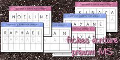 Fiche écriture prénom MS Learning To Write, Teaching Writing, Teacher Hacks, Montessori, Periodic Table, Homeschool, Activities, Voici, Cycle 1