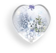 """♥ Winter Snow Globes"" by catfabricsandbuttons ❤ liked on Polyvore featuring art"