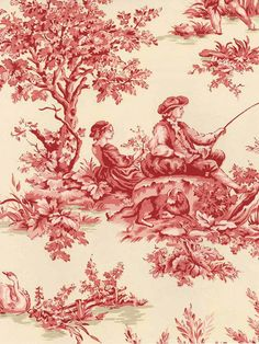 Pierre Deux Aumont Toile in Rose   Wallpaper #York