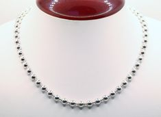 Details about  /Vintage Sterling Silver Garnet Ball Beads With Cross Marcasite Necklace