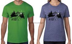 Hiking t-shirt, Hike it Baby, mountains, stars, custom t-shirt designs - Alex Tebow Designs