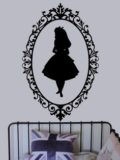 Alice in Wonderland Shadow vinyl decal  UK by edithandelizabeth, £25.00