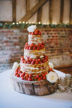 .strawberries and cake.... Perfect combo