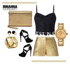 """RIHANNA CONCERT"" by emily-677 ❤ liked on Polyvore featuring Lanvin, Lipsy, Prada, Paco Rabanne, Yves Saint Laurent, Versace and Betsey Johnson"