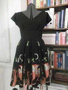 The By Hand London Anna Owl dress Owl Dress, Dress Up, By Hand London, Anna Dress, Dress Patterns, Sewing Patterns, Fashion Sewing, Sewing Clothes, Vintage Fashion