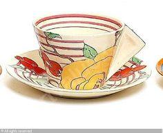 CLIFF Clarice,'Amberose' teacup and saucer,Bonhams,London