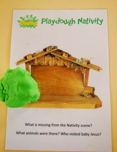 playdough nativity