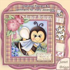 Buzzin Bee Various Occasions 7.5 Decoupage & Insert Mini Kit
