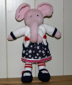 Hand Knitted Elephant by Nodnook on Etsy