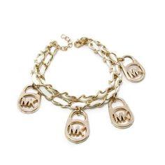 Michael Kors Logo Charm White Bracelets