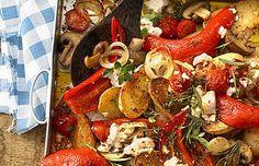 Mediterrane ovenschotel met zoetpuntpaprika's