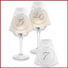 OUR BIG DAY Collection: Table Numbers Wine Glass Lampshades (Set of 20) - Great Wedding / Party Table Wine Decoration! by Epic, http://www.amazon.com/dp/B008D6CBIW/ref=cm_sw_r_pi_dp_XFmnsb0NA2JR6