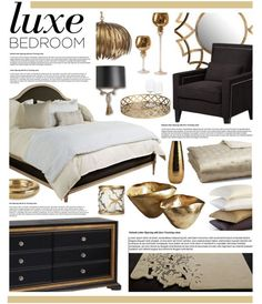 Style Guide: Black and Gold Bedroom Ideas | Gold bedroom