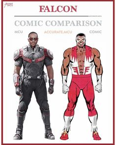"800 Likes, 16 Comments - • Accurate.MCU • mcu fanpage (@accurate.mcu) on Instagram: ""• FALCON - COMIC COMPARISON • A lot of people requested this comparison so I thought, why not. I…"""