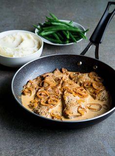 Make this tasty, Italian-inspired pork osso buco recipe in your RICARDO electric pressure cooker or Instant Pot. Feijoada Recipe, Pork Recipes, Cooking Recipes, Healthy Recipes, Pork Cutlets, Pork Tenderloins, Pork Chops, Pressure Cooker Pork