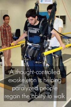 1. An exoskeleton is being developed that can be operated with mind control.