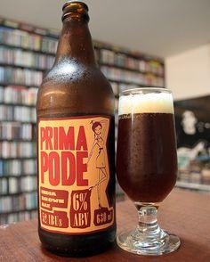 Cerveja Prima Pode, estilo American Brown Ale, produzida por Cervejaria Urbana, Brasil. 6% ABV de álcool.