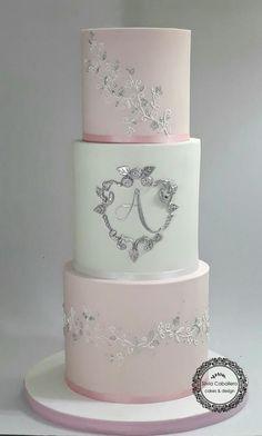 Elegant cake for Alina by Silvia Caballero