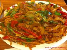 Čínské nudle s kuřecím masem - Mňamky-Recepty.sk Kung Pao Chicken, Ratatouille, Japchae, Chinese, Beef, Ethnic Recipes, Food, Red Peppers, Meat