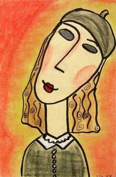 Modigliani -Artsonia Art Museum :: Artwork by lily208