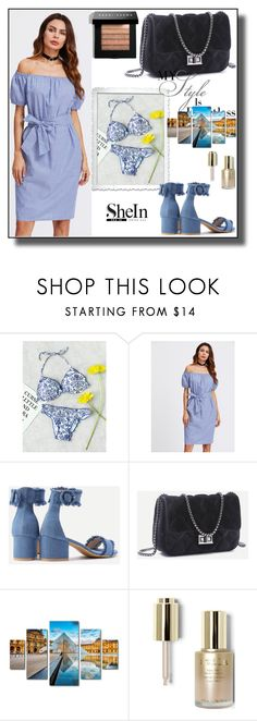 """//  SHEIN 10/XVI  //"" by nura-akane ❤ liked on Polyvore featuring Trademark Fine Art, Stila and Bobbi Brown Cosmetics"
