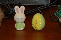 My childhood Easter decorations that my mom painted.
