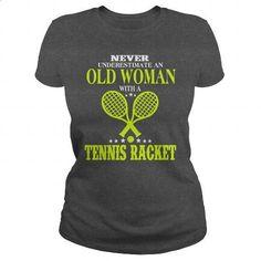 OLD WOMAN WITH A TENNIS RACKET - #long sleeve shirts #navy sweatshirt. I WANT…