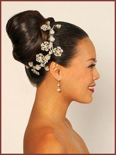 African American Wedding Hairstyles & Hairdos: updo | Wedding ...