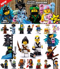 New collectable series Ninjago Movie minifigures now available - www.firestartoys.com #lego #minifigures #legocustom #moc #legomoc #legominifigure #minifig #minifigs #AFOL #firestarlego