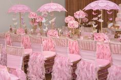 creative pink and white decorating ideas for a baby shower or bridal shower Shower Party, Baby Shower Parties, Baby Shower Themes, Bridal Shower, Shower Ideas, Birthday Party Decorations, Birthday Parties, Wedding Decorations, Baby Shower Centerpieces