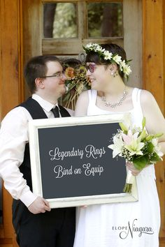 How did you meet? this couple played an on line game and fell in love and got married at The Little Log Wedding Chapel in Niagara