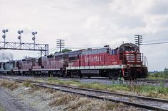 """""""Q"""" time at Eola - 1972 - Even though the BN merger was two years old, it's mostly a CB&Q event as an eastbound train completes its work at Eola and departs for Cicero Yard in Chicago on June 25, 1972. The lead unit, a U30B, was purchased by the Burlington Route in Jan. 1968, the last one in an order for 15 units of this model."""