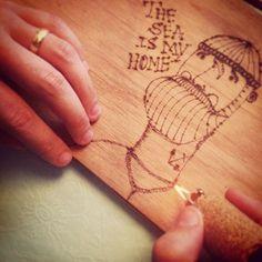 Old School wood project by Paula Maia, via Behance