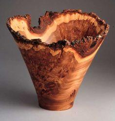 A natural edged bowl