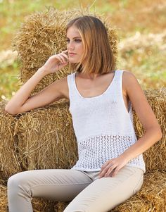 Book Woman 81 Spring / Summer | 50: Woman Top | White