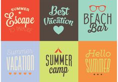 Vector Summer Backgrounds