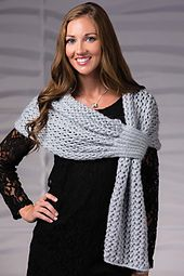 Knitting Pattern for Twilight Stole - Easy lace shawl with slip through fastening. From Creative Knitting Winter 2015 tba keyhole Shawl Patterns, Knitting Patterns Free, Free Knitting, Crochet Patterns, Knitting Ideas, Free Pattern, Knitted Shawls, Crochet Scarves, Crochet Clothes