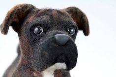 Boxer plush stuffed dog: Monty's Story