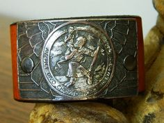 Items similar to sacred european latin st. christopher leather cuff on Etsy Saint Christopher, Close To My Heart, Leather Cuffs, Unique Jewelry, Handmade Gifts, Wallet, Etsy, Vintage, Kid Craft Gifts